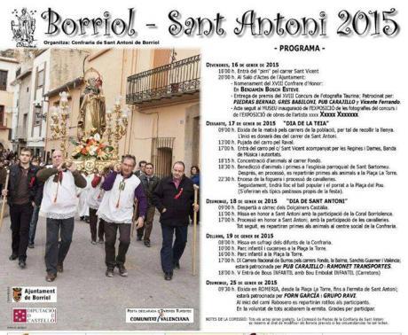 Festividad de San Antonio Abad en Borriol