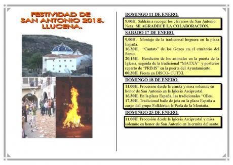 Festividad de San Antonio Abad en Lucena del Cid