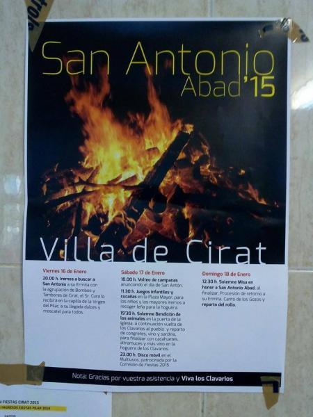 Fiestas de San Antonio en Cirat