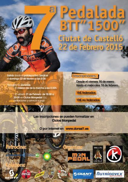 Pedalada BTT 1500 ciudad de Castellón
