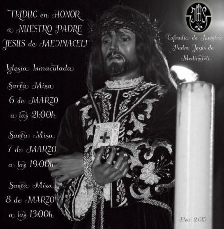 Triduo en Honor a Nuestro Padre Jesús de Medinaceli
