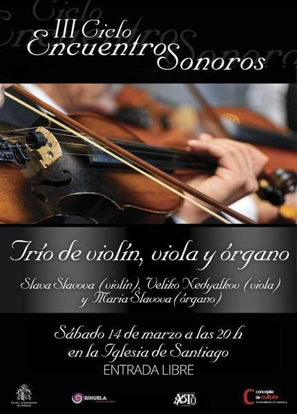 Trío de violín, viola y órgano