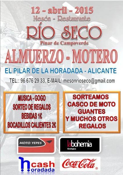 III Almuerzo Motero en Restaurante Mesón Río Seco de Pinar de Campoverde
