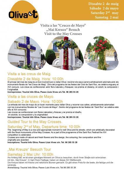 Visita a las Cruces de mayo Oliva