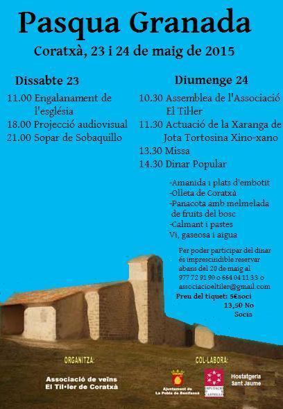 Fiestas de la Pascua Granada en Coratxà (La Pobla de  Benifassà)