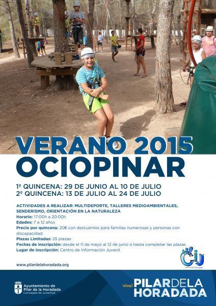 Actividades para niños durante todo el verano en Pilar de la Horadada 2015