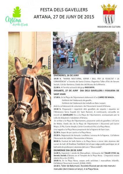 Fiesta 'dels Gavellers' en Artana