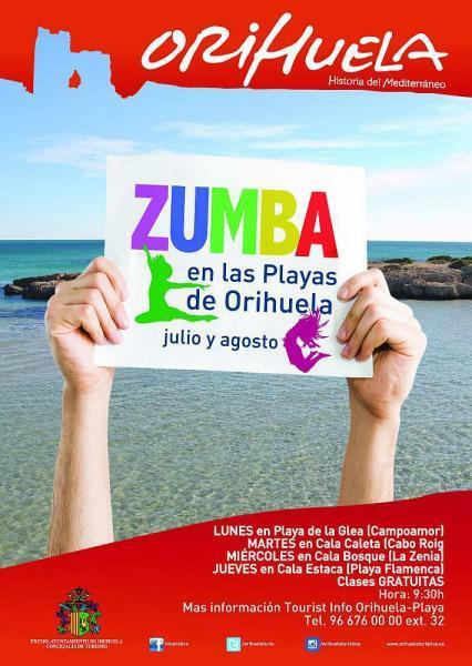 Zumba en las playas de Orihuela