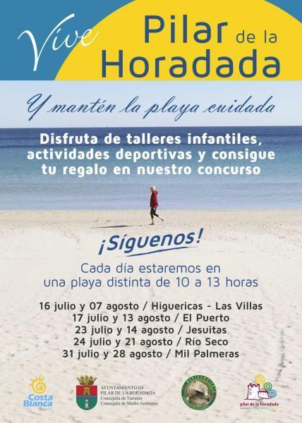 """""""Vive Pilar de la Horadada y mantén la playa cuidada"""" 2015"""