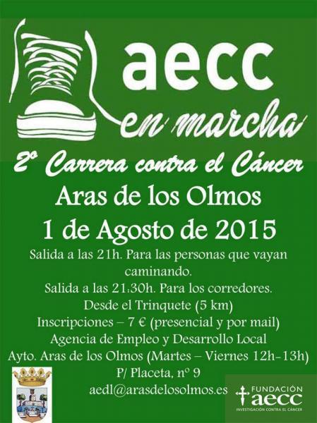 CARRERA CONTRA EL CANCER-Aras de los olmos 2015