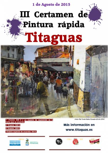 III CERTAMEN DE PINTURA RÁPIDA - Titaguas 2015