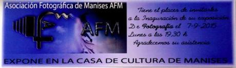 Exposición Asociación Fotográfica de Manises (AFM) en Casa de la Cultura de Manises.
