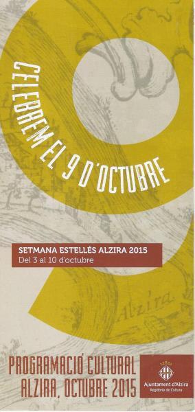 Programa Cultural 9 de octubre ciudad de Alzira