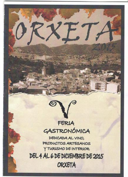 V FERIA GASTRONÓMICA DE ORXETA