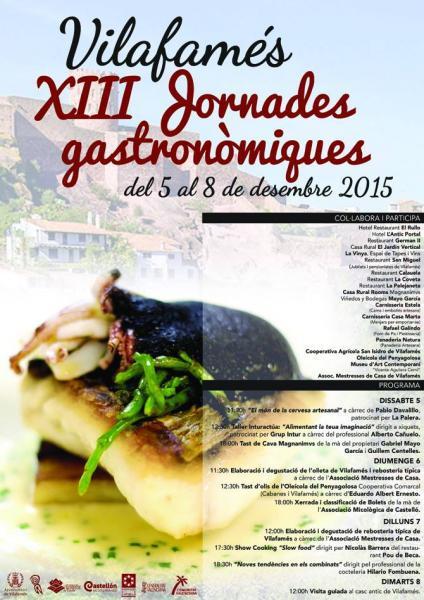 XIII Jornades Gastronòmiques de Vilafamés.