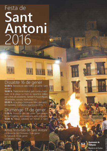 Festivitat de Sant Antoni. Vilafamés 2016.