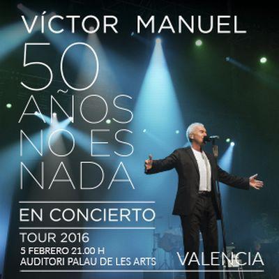 Víctor Manuel en concierto en el Palau de les Arts