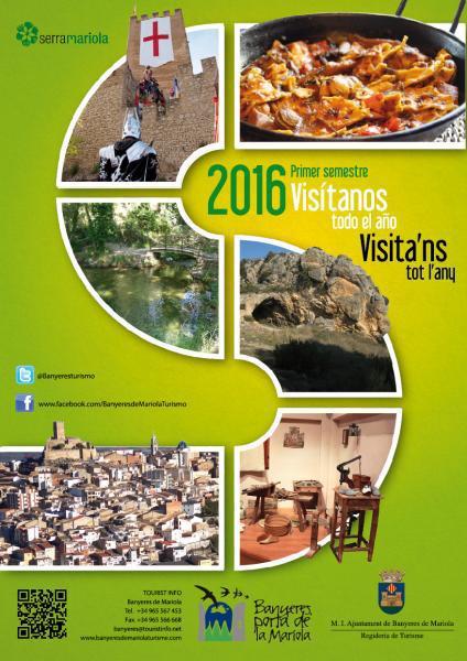 Calendario visitas guiadas primer semestre 2016 Banyeres de Mariola