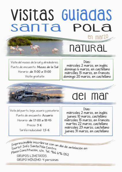 Guided Tours March - Santa Pola