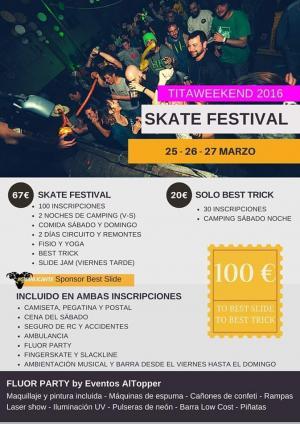 SKATE FESTIVAL - Titaweekend  2016