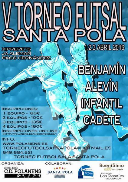 V Torneo de Fútbol Sala en Santa Pola