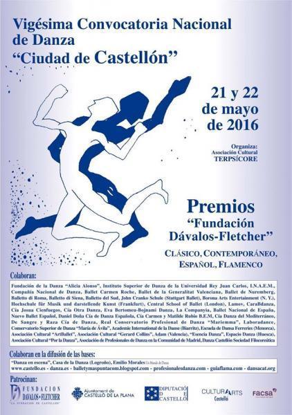 """Convocatoria Nacional de Danza """"Ciudad de Castellón"""""""