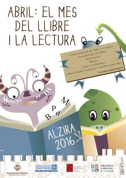 Abril: el mes del Libro y la Lectura en Alzira