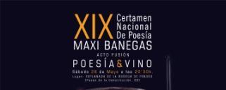 XIX Certamen Nacional de Poesía  Maxi Banegas Acto Fusión Poesía y Vino