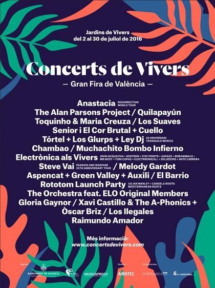 Conciertos de Viveros. Feria de Julio 2016