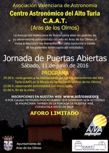 Jornada de Puertas abiertas - Centro Astronómico del ALto Turia- Aras de los Olmos.