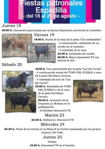 Fiestas en honor a San Roque y San Juan Bautista en Espadilla
