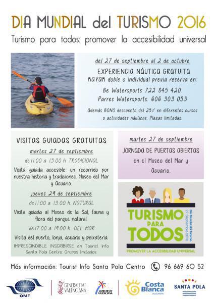 Santa Pola - Día Mundial del Turismo 2016 - WTD2016