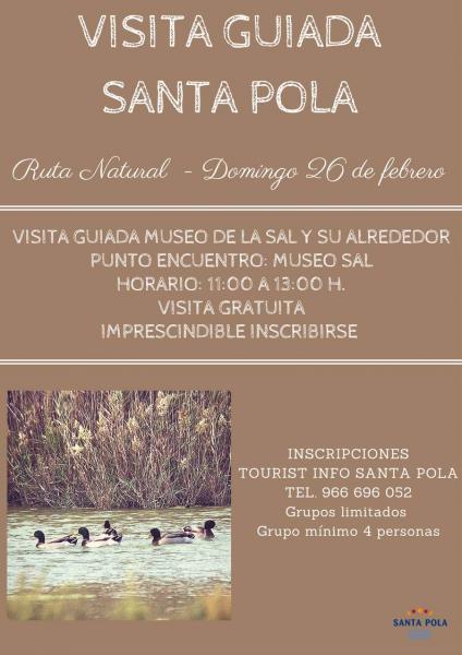 26 de febrero Visita Guiada al Museo de la Sal Santa Pola
