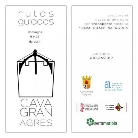 RUTAS GUIADAS CON TRANSPORTE A LA CAVA GRAN DE AGRES