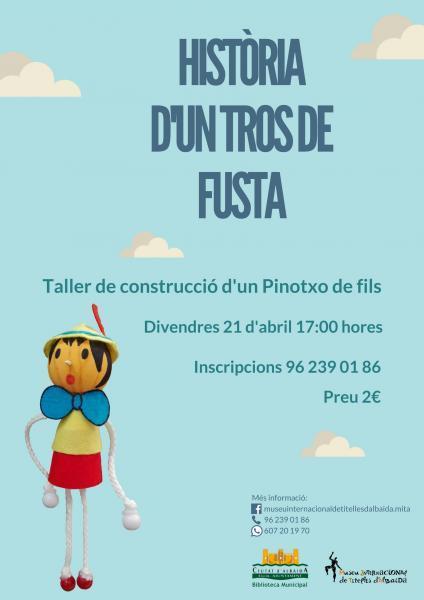 Taller de construcción de un Pinocho de hilos