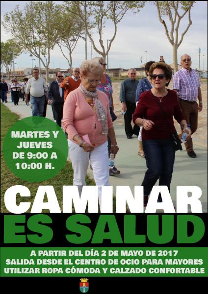 Caminar es salud (caminata por el pueblo acompañado de monitoras) en Pilar de la Horadada 2017