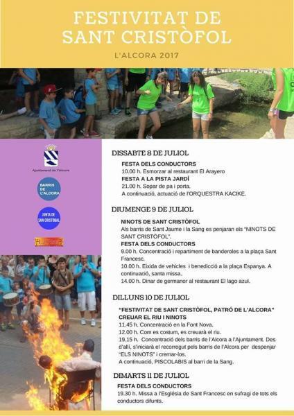 """fiestas de San Cristóbal y """"els ninots"""" 2017"""