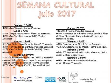 SEMANA CULTURAL  ARAS DE LOS OLMOS 2017