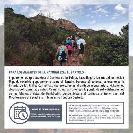 """Programa Oficial Visitas guiadas: """"El Bartolo"""""""