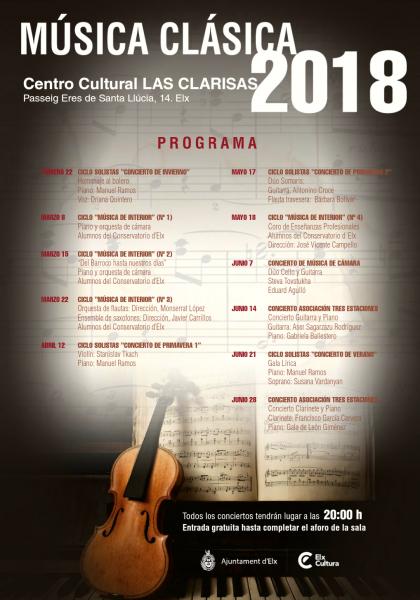 Conciertos de música clásicas en el Centro Cultural de Las Clarisas.