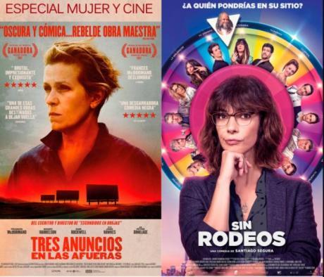 """Cine Casa Cultura 11 y 12 marzo """"Tres Anuncios en las Afueras"""" y """" Sin Rodeos""""."""