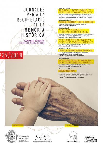 Jornades per a la Recuperació de la Memòria Històrica. Manises 2018