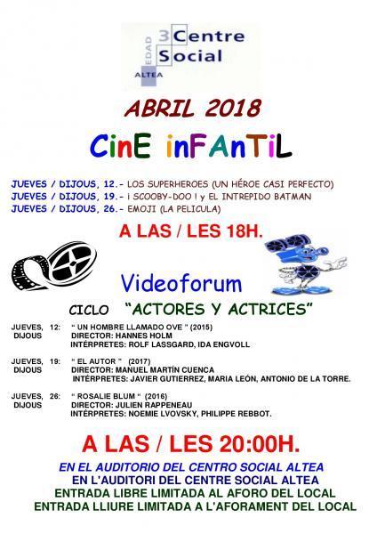 Videoforum abril