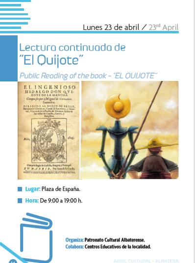"""LECTURA CONTINUADA DE """"EL QUIJOTE"""""""