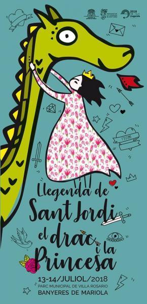 Representació de la Llegenda de Sant Jordi, el drac i la princesa. Banyeres de Mariola (Alacant)