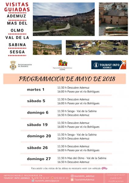 Programa de visitas guiadas a Ademuz y sus aldeas: MAYO