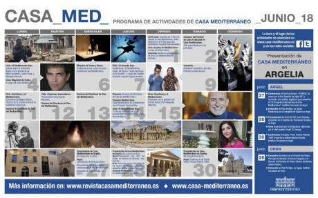 Programa de actividades Casa Mediterráneo Junio 2018