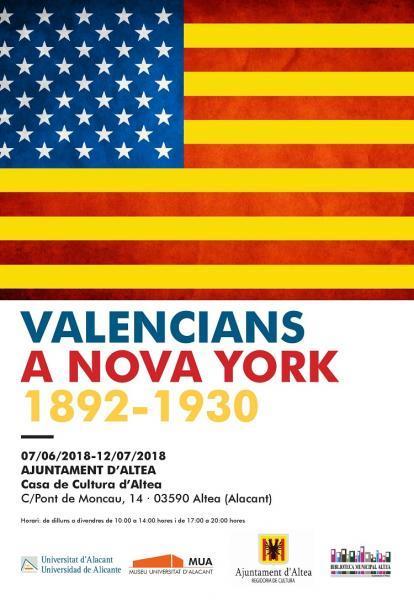 """EXPOSICIÓN """"VALENCIANS A NOVA YORK 1892 - 1930"""" EN ALTEA"""