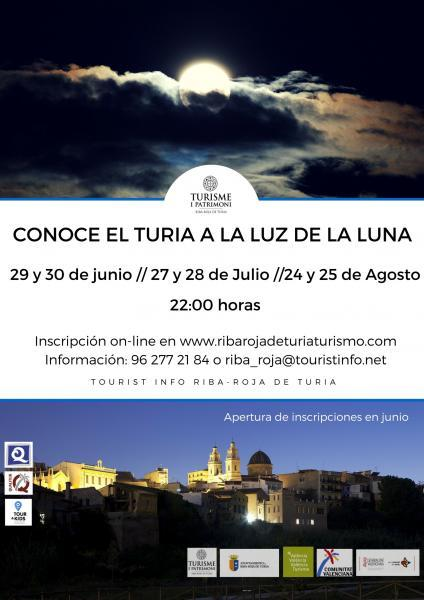 Abierta la inscripción a la ruta CONOCE EL TURIA A LA LUZ DE LA LUNA