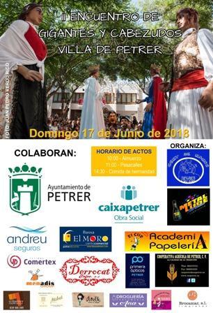 II Encuentro de Gigantes y Cabezudos Villa de Petrer 2018